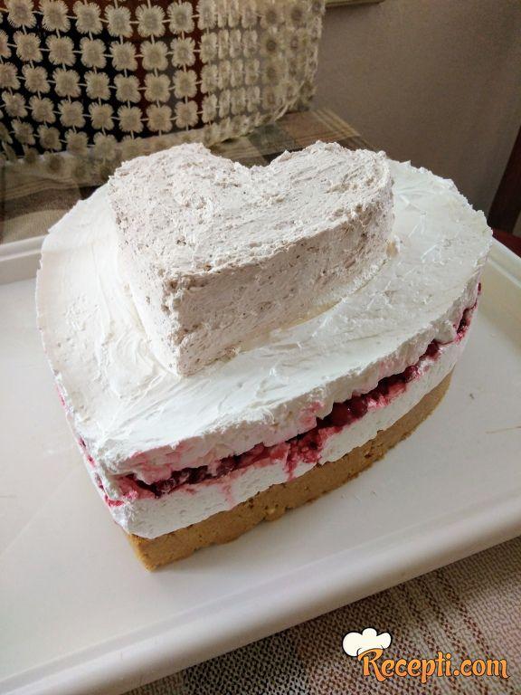 Posna torta cheesecake