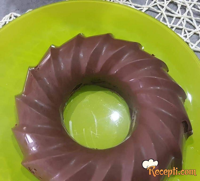Mramorni kuglof sa čokoladnom glazurom