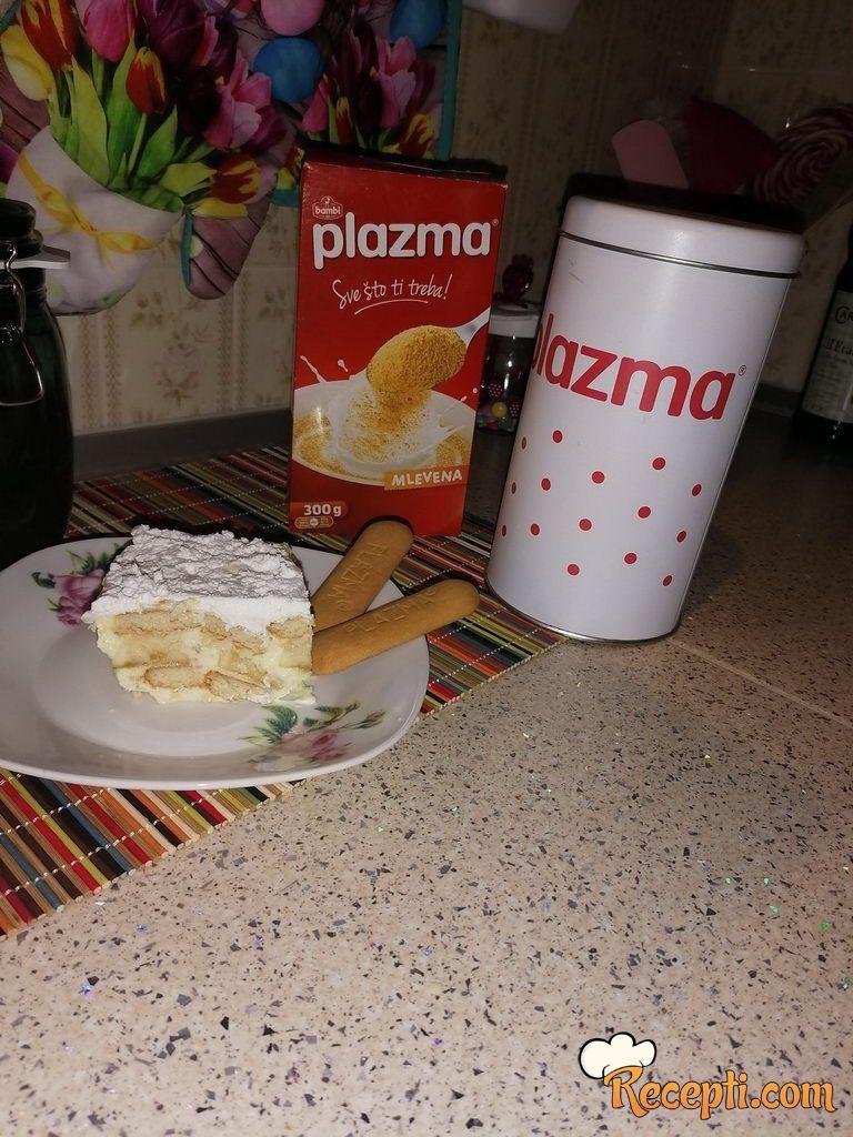 Plazma-banana kolač (brzo, a preukusno)