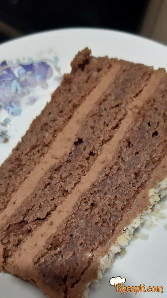 Veoma čokoladna torta sa orasima