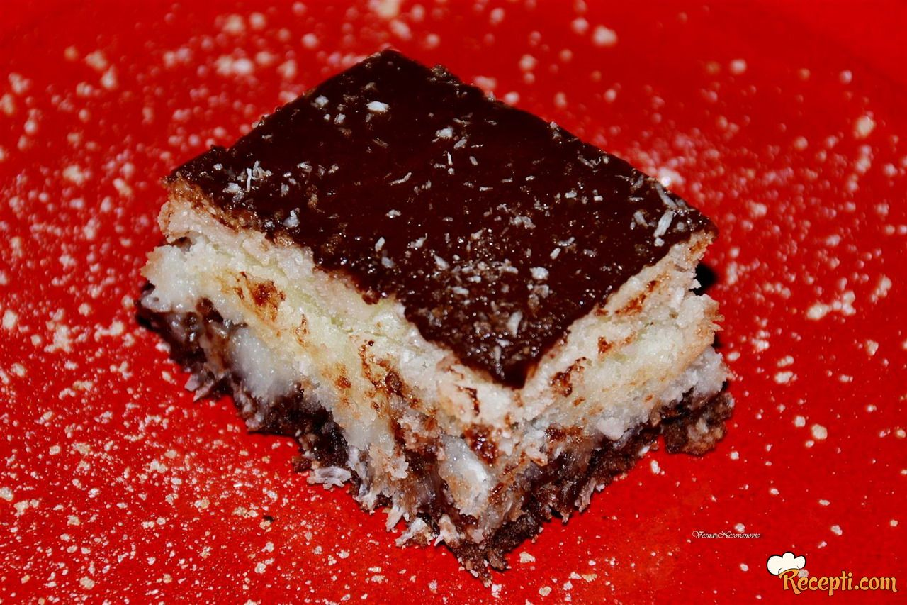 Mramorni kolač od kokosa bez jaja