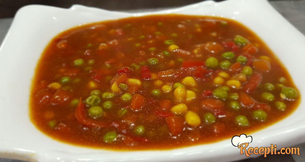 Povrće sa soja sosom