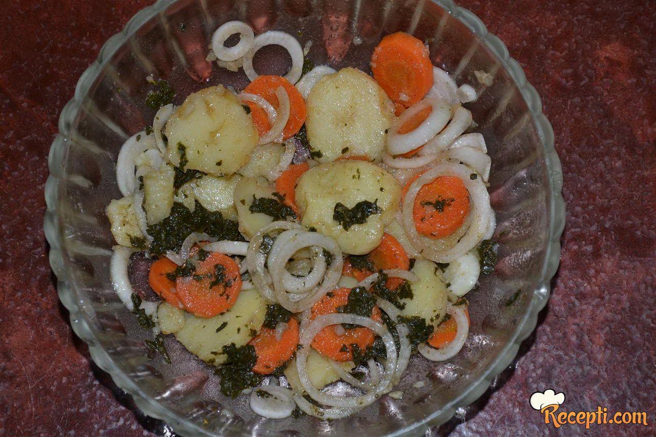 Krompir salata sa jabukovim sirćetom