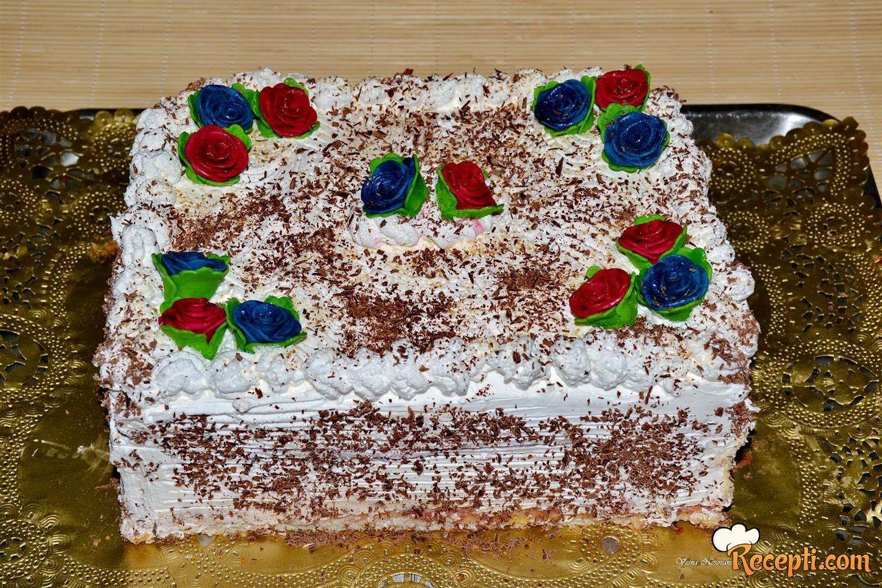 Rafaelo torta sa jagodama