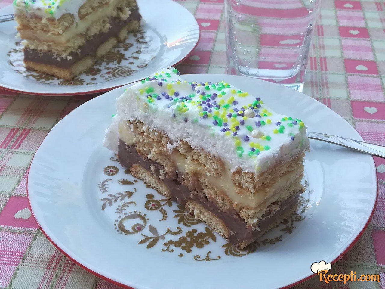 Šarena torta sa plazmom
