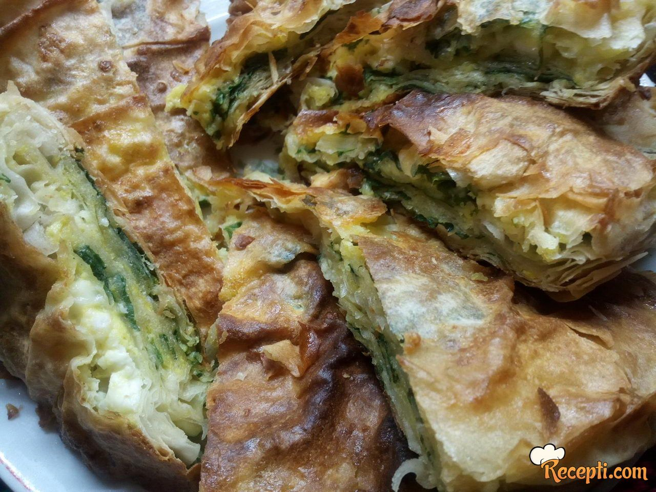 Gibanica (pita) sa sirom i blitvom