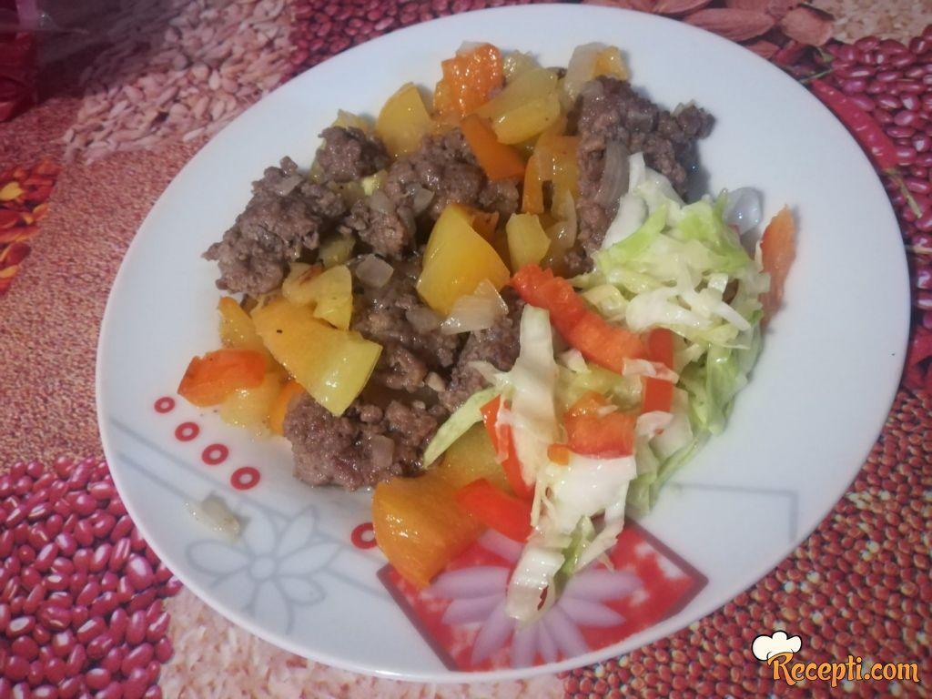 Brzi ručak sa mlevenim mesom