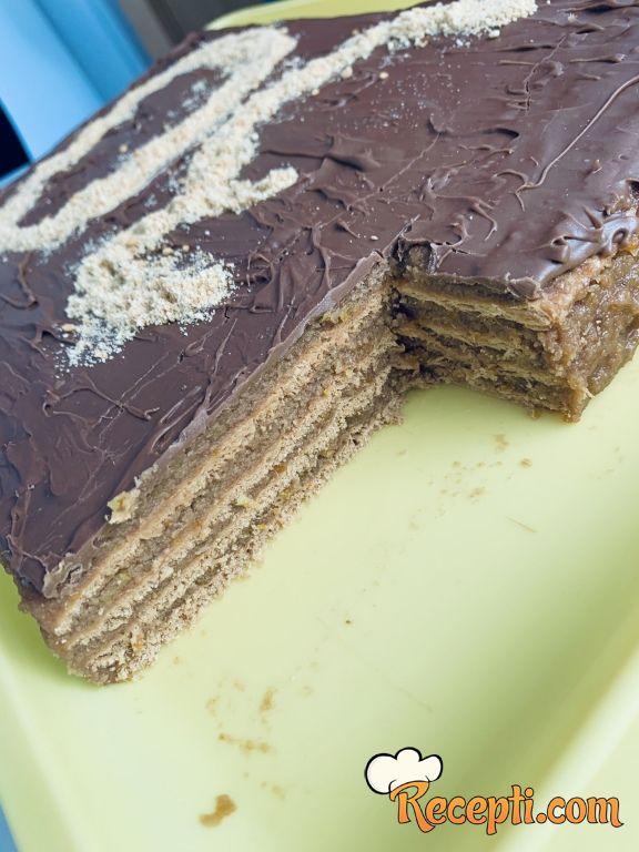 Čoko-oranž posna torta