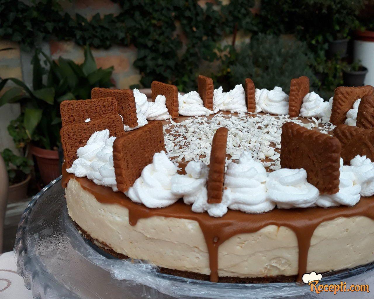Lotus torta sa belom čokoladom