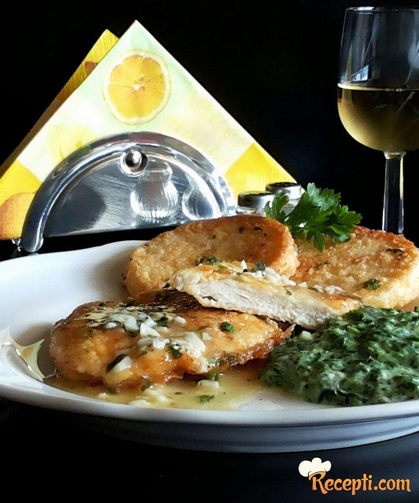 Piletina *francaise* sa sosom od limuna