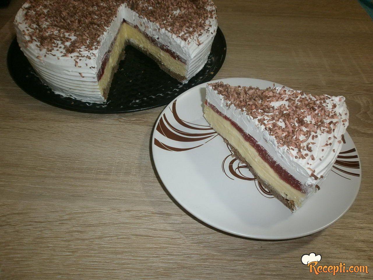Vanil torta sa jagodama