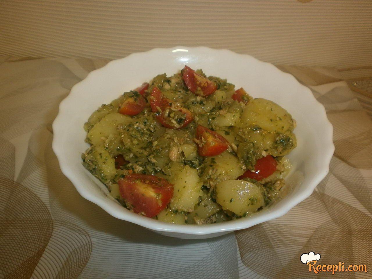 Krompir salata sa spanaćem