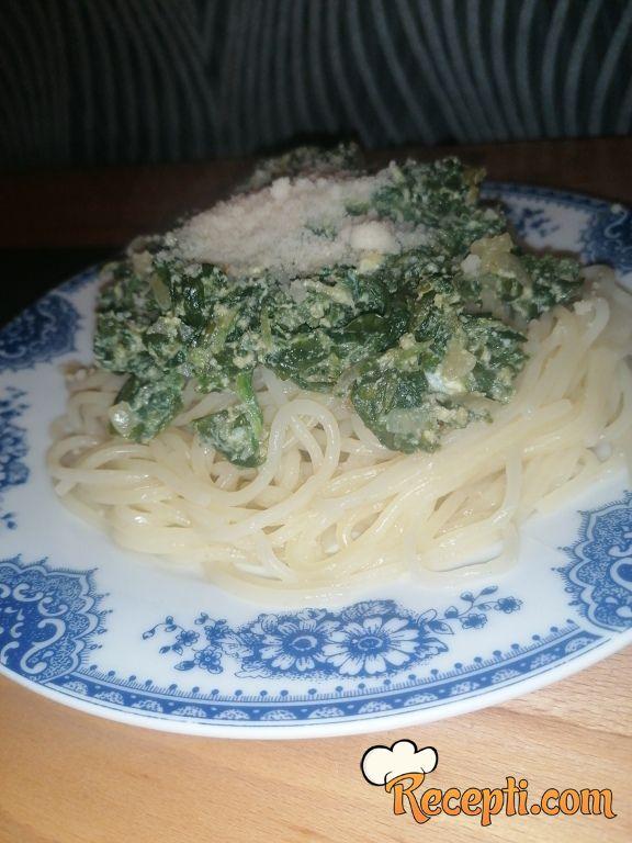Špageti sa spanaćem