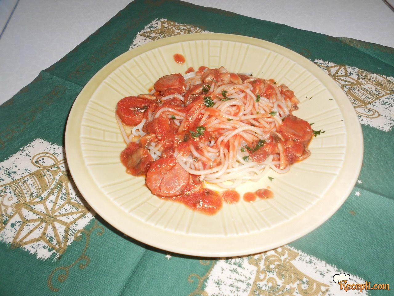 Špagete sa šampinjonima