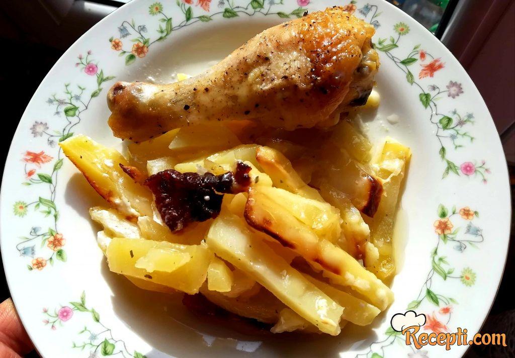 Ponfrit sa piletinom iz rerne