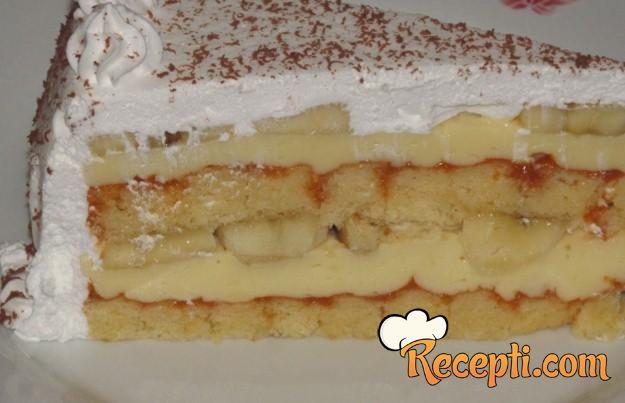 Novogodišnja torta od banana