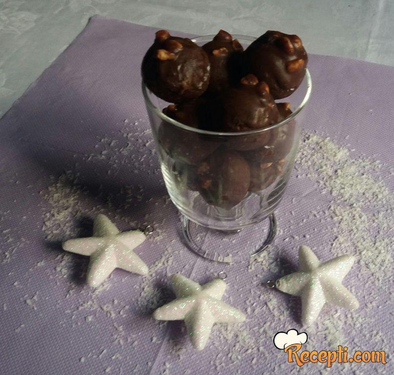 Lešnik čokoladne kuglice