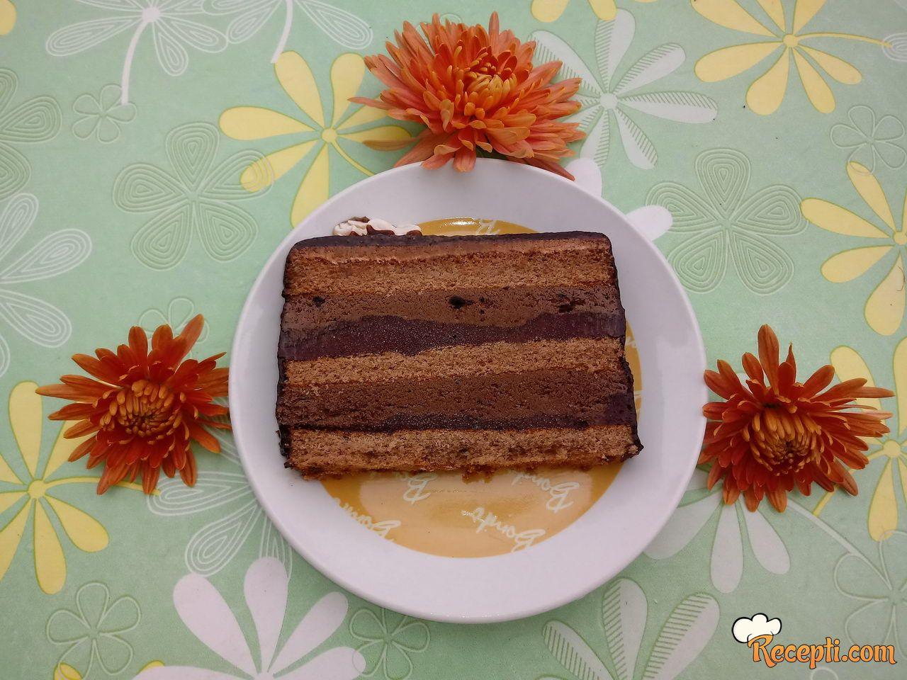 Torta sa šljivama i čokoladom