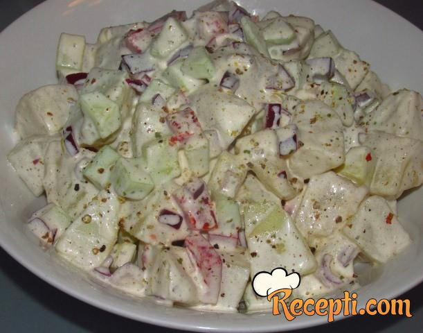 Diseldorfska krompir salata