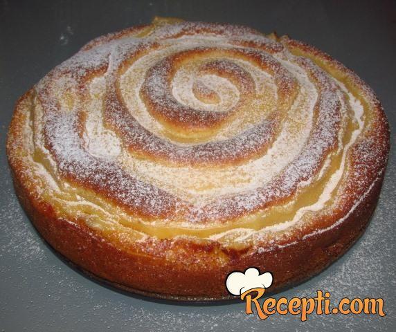 Apfelkuchen mit Vanillecreme