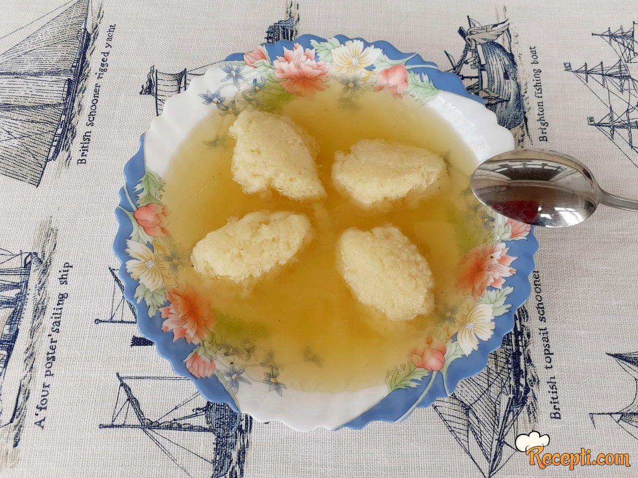 Griz knedle za supu