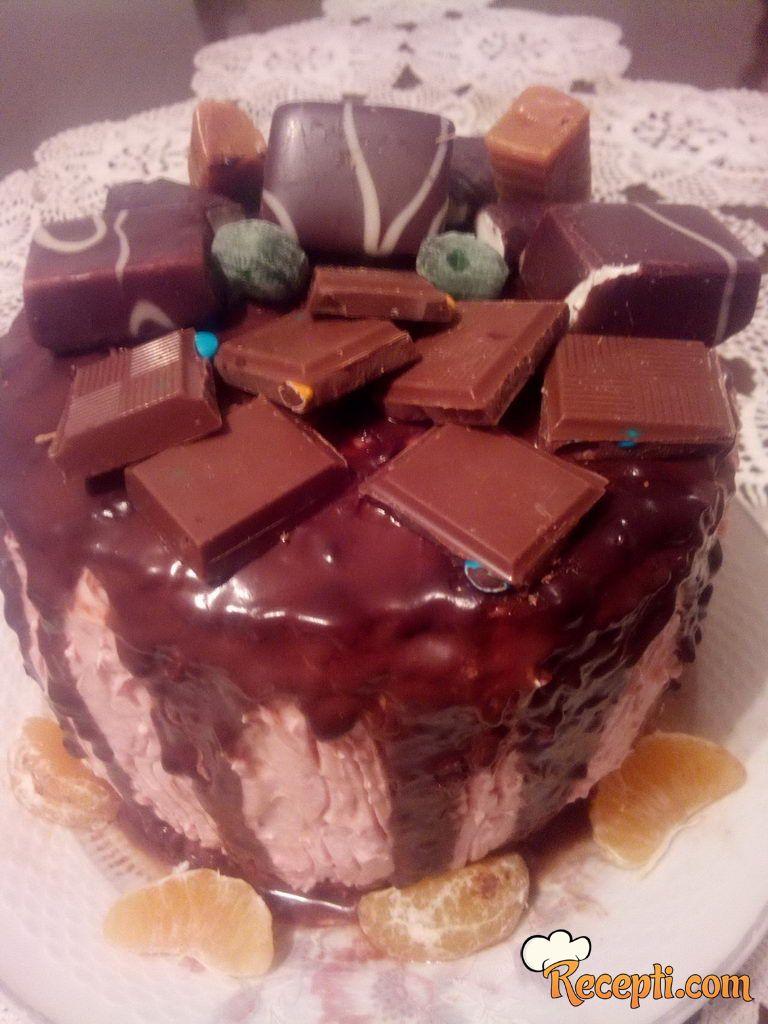 Čoko puž torta