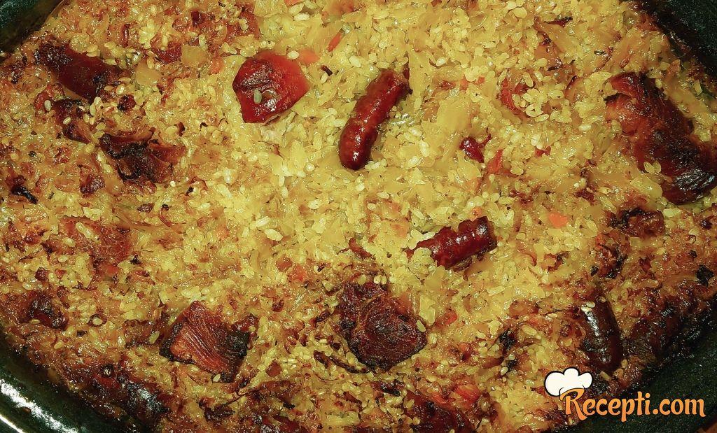 Podvarak sa pirinčem i suvim mesom