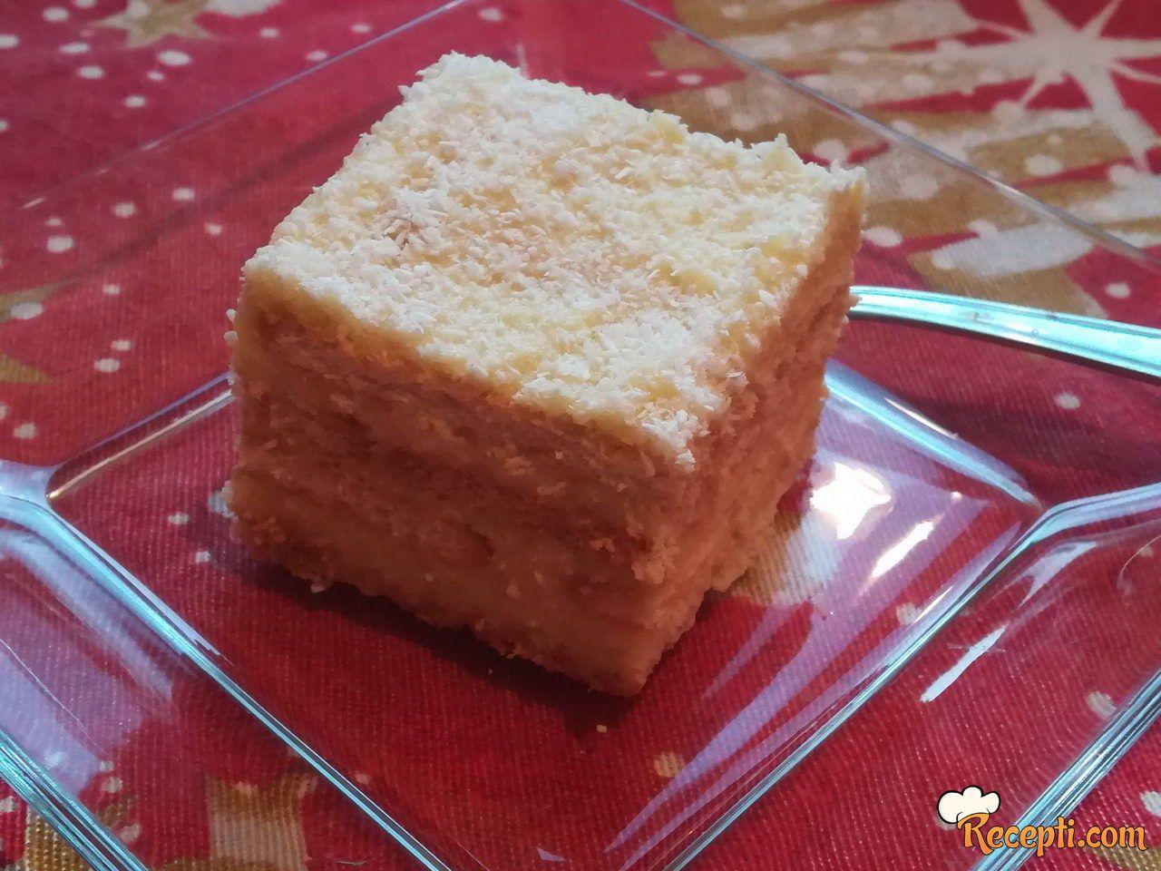 Keks kolač sa kokosom