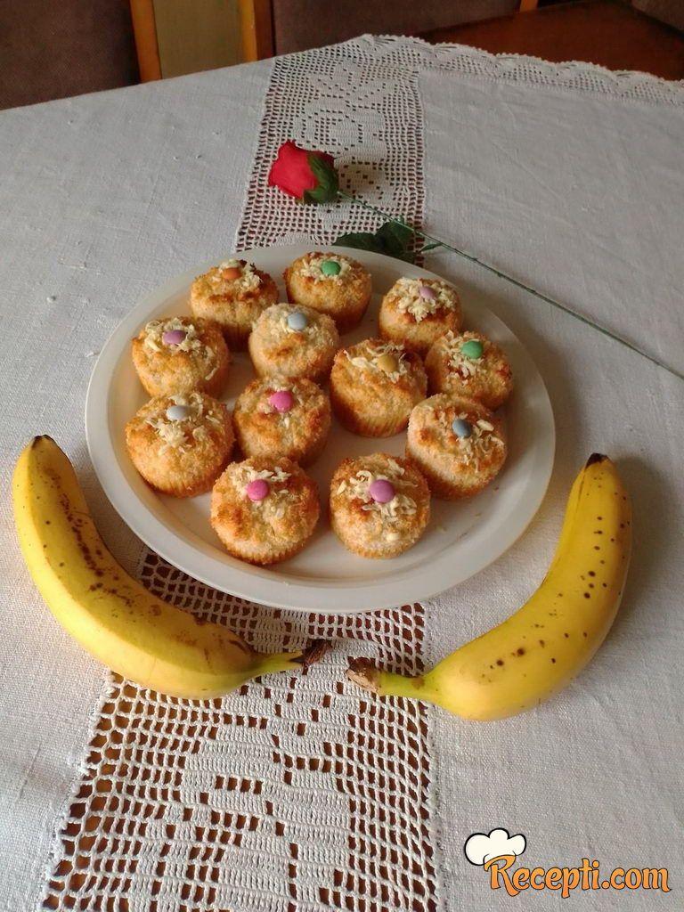 Kokos banana mafini