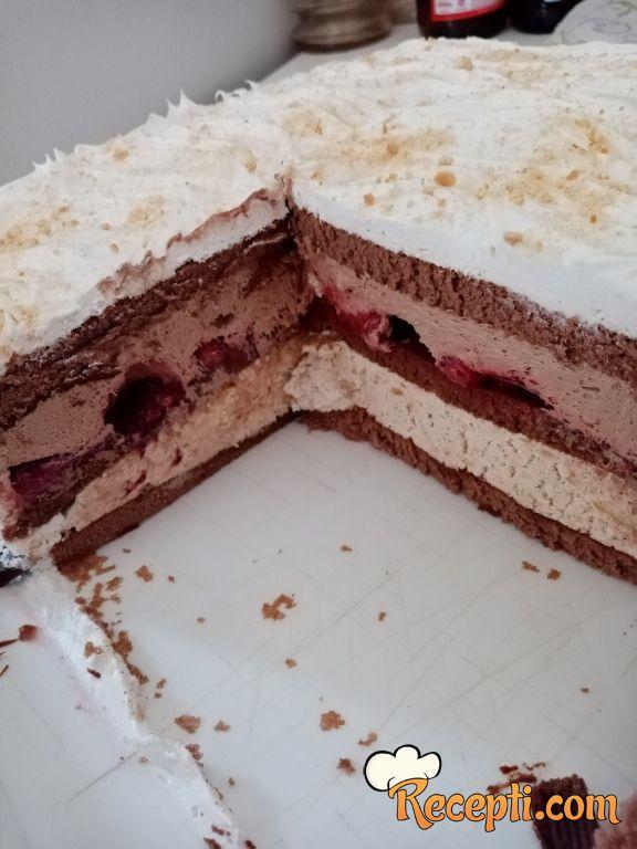 Šlag torta sa jagodama i plazmom
