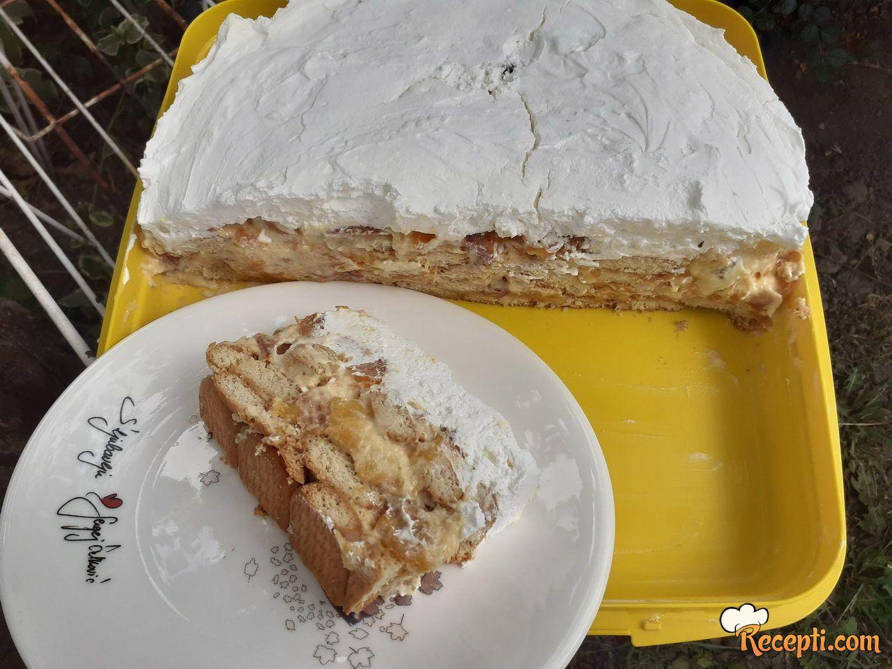 Lagana torta sa breskvama
