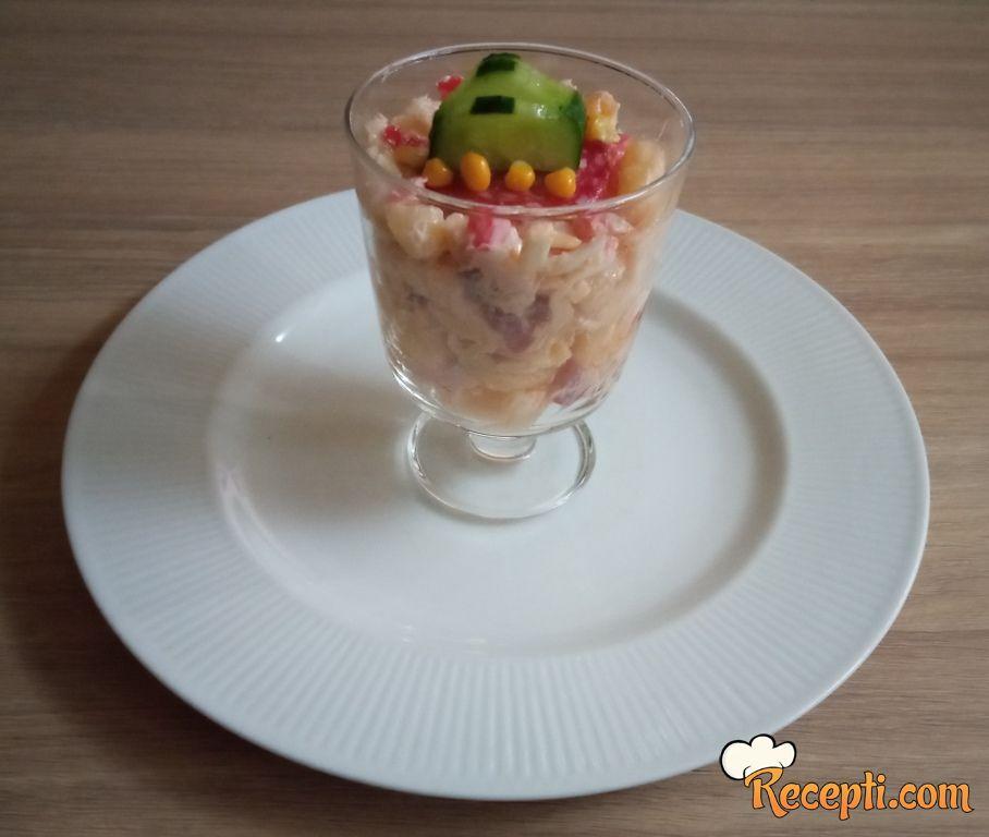 Salata sa šunkom i vaj kremom