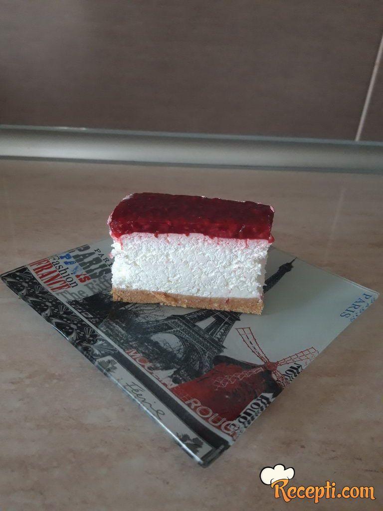 Najlepši cheesecake sa malinama