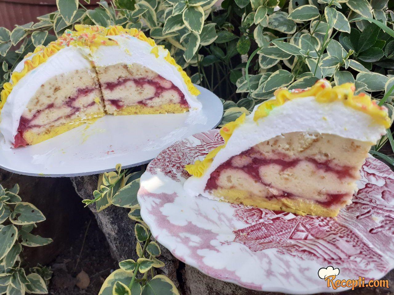 Slatka mala prevrnuta torta