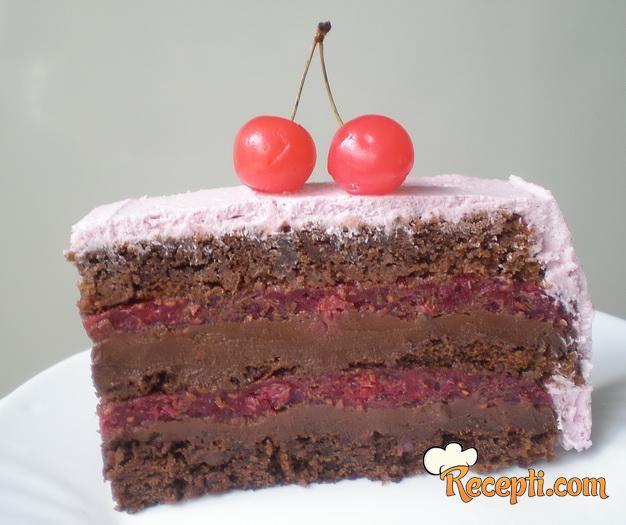 Baron torta sa malinama