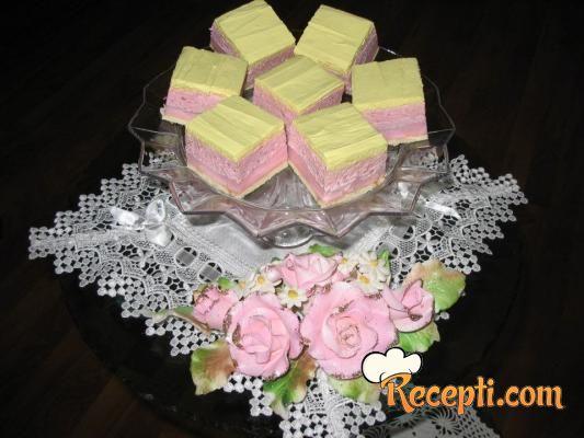 Kremasti kolač sa jagodama
