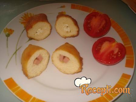 Pancerote sa šunkom ili sirom