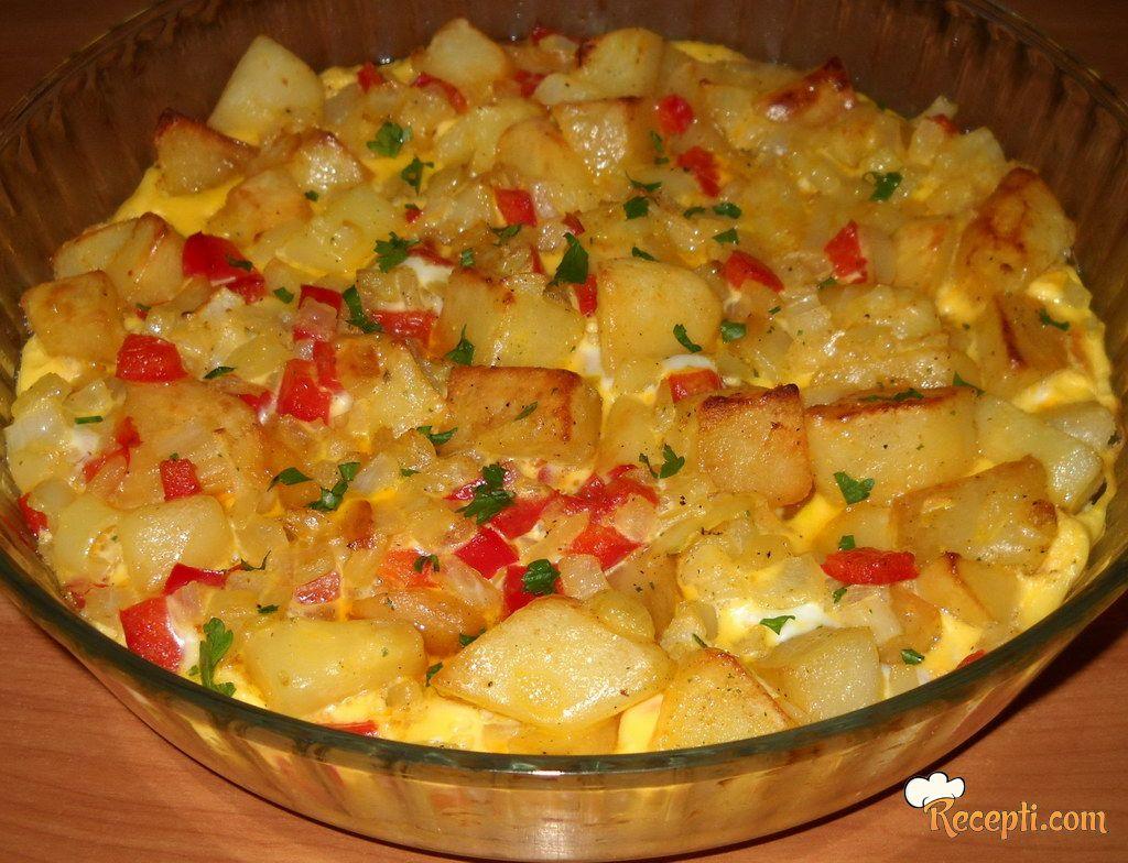 Zapečeni španski omlet