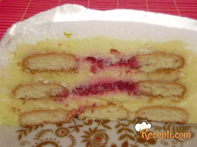 Torta sa plazmom i malinama