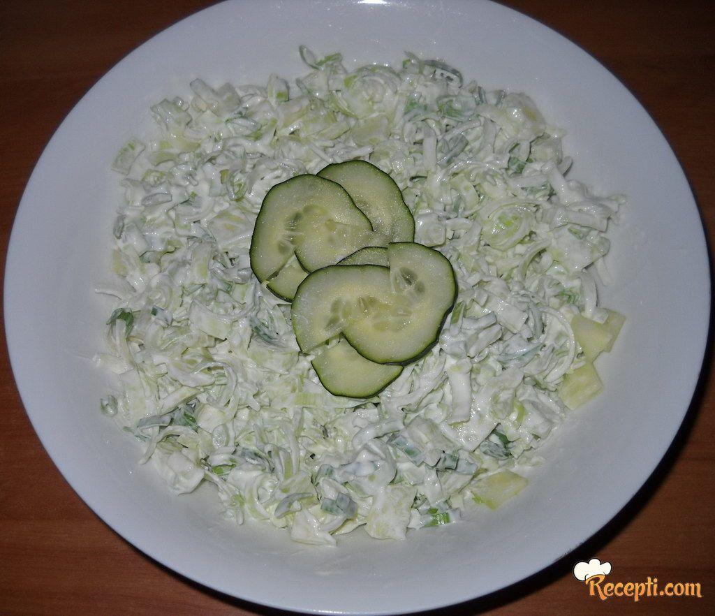 Salata od krastavaca i prazikuka