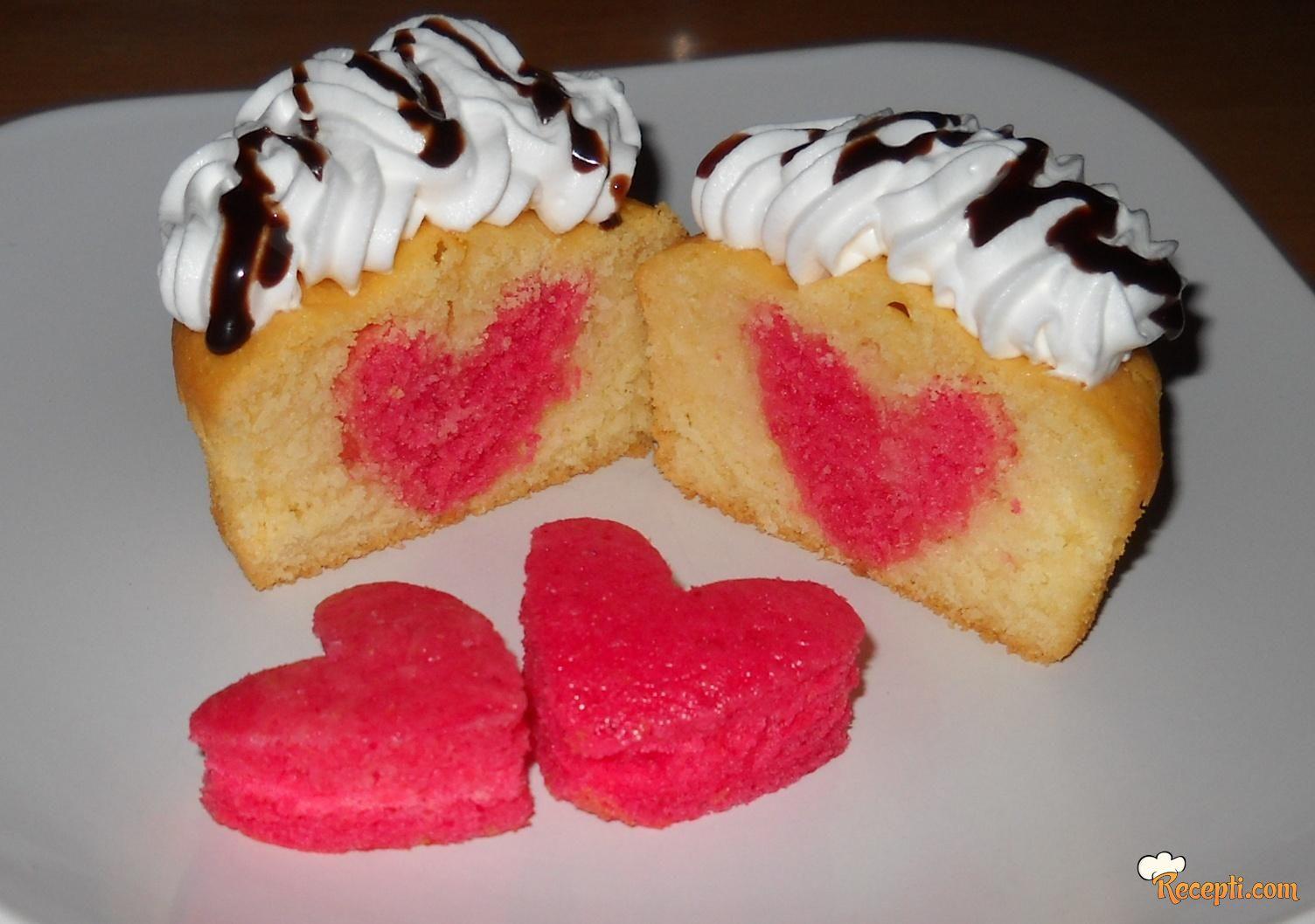 Muffini sa srcem (Muffins Valentine's day)