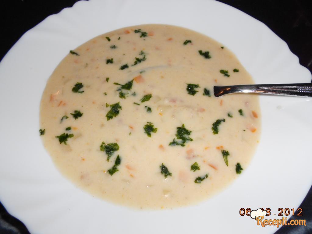 Supa od slanine i krompira