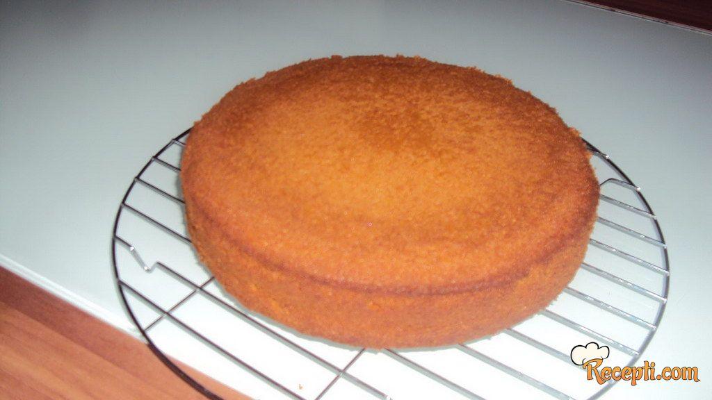 Biskvit za tortu (svijetli - tamni)