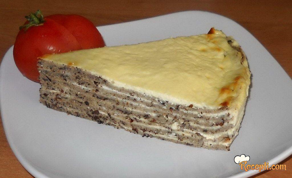 Slana torta od heljdinih palačinki