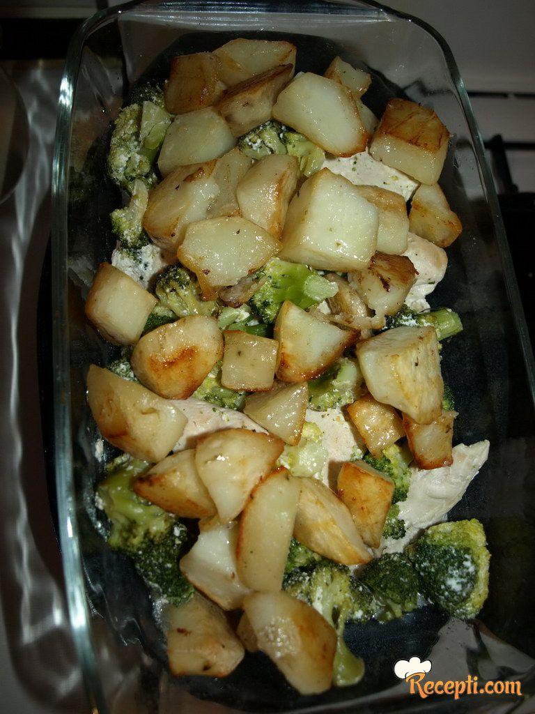 Bijelo meso sa brokulama i krompirom