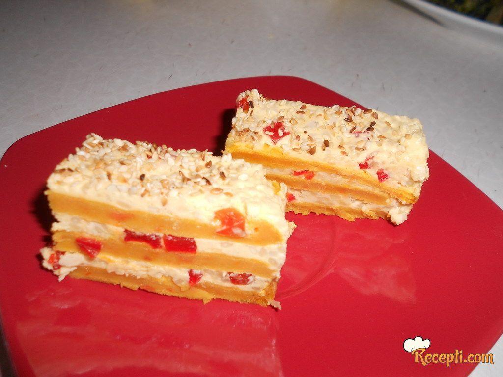 Posna slana torta od šargarepe